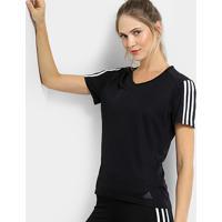 aa83af17a0d ... Camiseta Adidas Run 3S Feminina - Feminino-Preto+Branco