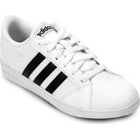 Tênis Infantil Couro Adidas Baseline - Unissex