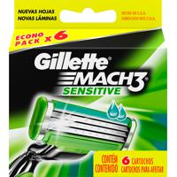 Carga Gillette Mach3 Sensitive 6 Unidades