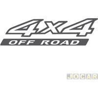 """Letreiro - Alternativo - Frontier 2008 Até 2013 - """"4X4 Off Road"""" - Preto E Branco - Cada (Unidade)"""
