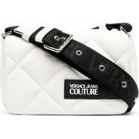Versace Jeans Couture Bolsa Tiracolo Matelassê Com Logo - Branco