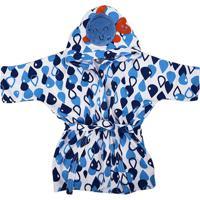 Roupão C/ Capuz Bebê Azul - Incomfral