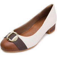 Sapato Usaflex Uf21-Ad0407 Bege-Marrom