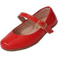 Sapatilha Infantil Milu Fashion Menina Lisa Vermelha