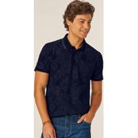 Camisa Azul Polo Tradicional Tropical