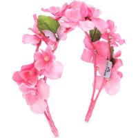 Monnalisa Headband Com Estampa Floral - Rosa