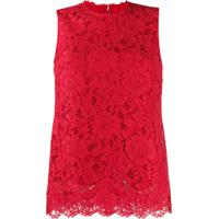 Dolce & Gabbana Blusa Sem Mangas Vermelha - Vermelho