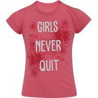 Camiseta Oxer Girls Feminina - Infantil - Rosa