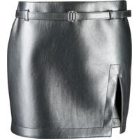 Philosophy Di Lorenzo Serafini Slit Mini Skirt - Cinza
