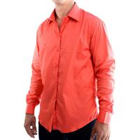 Camisa Zimpool Social Slim Fit Manga Longa Vermelha