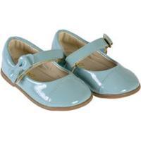 Sapato Bebê Verniz Azul Claro - Baby Passo - 20