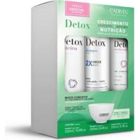 Kit Cadiveu Professional Detox Home Care Shampoo 250Ml + Condicionador 250Ml + Proteína 320Ml - Feminino-Incolor