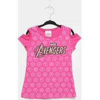 Blusa Infantil Brandili Avengers Feminina - Feminino-Rosa