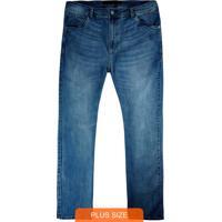 Calça Azul Slim Moletom Jeans