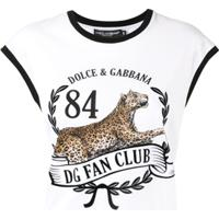 Dolce & Gabbana Blusa Sem Manga Com Estampa De Oncinha - Branco