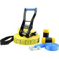 Slackline Zamboo Pro Black 20 Mts - Amarelo