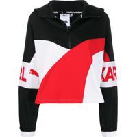 Karl Lagerfeld Blusa Esportiva Puma X Karl Com Zíper - Preto