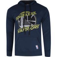 Blusão De Moletom Com Capuz Nba Golden State Warriors - Masculino - Azul Escuro
