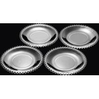 Cj Com 4 Pratos De Sobremesa De Cristal Pearl Clear 20Cm