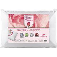 Travesseiro De Látex Toque De Rosas Lavável Na Maquina