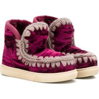 Mou Kids Stitching Detail Snow Boots - Rosa