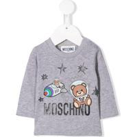 Moschino Kids Camiseta Com Estampa De Astronauta - Cinza
