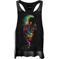 Regata Feminina Cavada Skull Colors