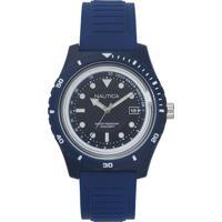 Relógio Nautica Masculino Borracha Azul - Napibz005