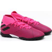 Chuteira Society Adidas Nemeziz 19 3 Tf Jr Infantil Rosa