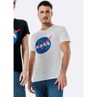 Camiseta Branca Slim Nasa® Unissex