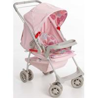 Carrinho De Bebê Galzerano Milano Reversível Rosa