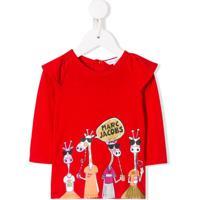 Little Marc Jacobs Blusa Com Estampa Girafa - Vermelho