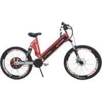 Bicicleta Duos Elétrica 800W Aro 26 Full Suspention Extreme Vermelha