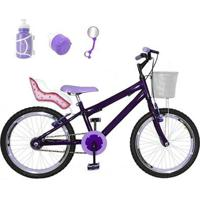 Bicicleta Infantil Aro 20 + Kit Roda Aero + Cadeirinha - Feminino