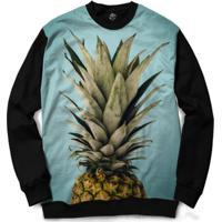 Blusa Bsc Pineapple Full Print - Masculino-Preto