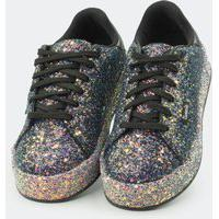 Tênis Tweenie #Mix Preto Com Glitter Colorido