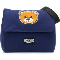 Moschino Kids Bolsa Maternidade Com Patch De De Logo Teddy Bear - Azul