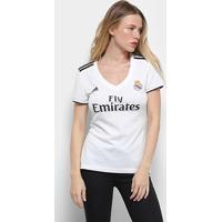 Camisa Real Madrid Home 2018 S/N° Torcedor Adidas Feminina - Feminino