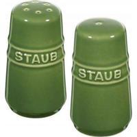 Mini Saleiro E Pimenteiro Cerâmica Verde Basil 7 Cm Staub