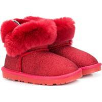 Monnalisa Slip-On Winter Boots - Vermelho