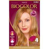 Tintura Biocolor Coloração Creme Louro Claro 8.0 Mini Kit