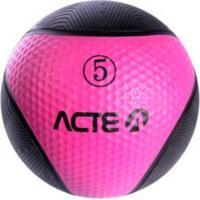 Bola De Peso Acte Sports T105 Medicine Ball 5Kg Rosa