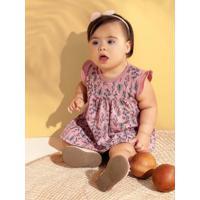 Vestido Body Menina Brandili Baby Rosa