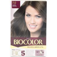 Tintura Biocolor Coloração Creme Kit 7.0 Louro Arraso