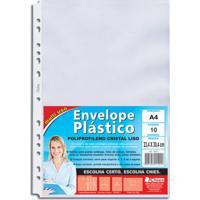 Envelope Plástico Chies A4 Refil Furação Universal Com 10 Folhas