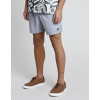Short Masculino Com Bolso E Cordão Cinza Mescla Claro