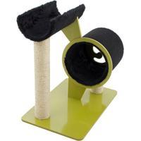 Brinquedo Arranhador Full- Dourado & Preto- 60X61X40Carlu Pet