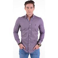 6238893f67072 ... Camisa Social Masculina Slim Xadrez Fucsia 100220 - Masculino-Roxo+Lilás