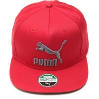 Boné Puma Snapback Ls Colourblock Vermelho