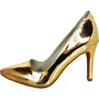Scarpin Blume Mirror Dourado